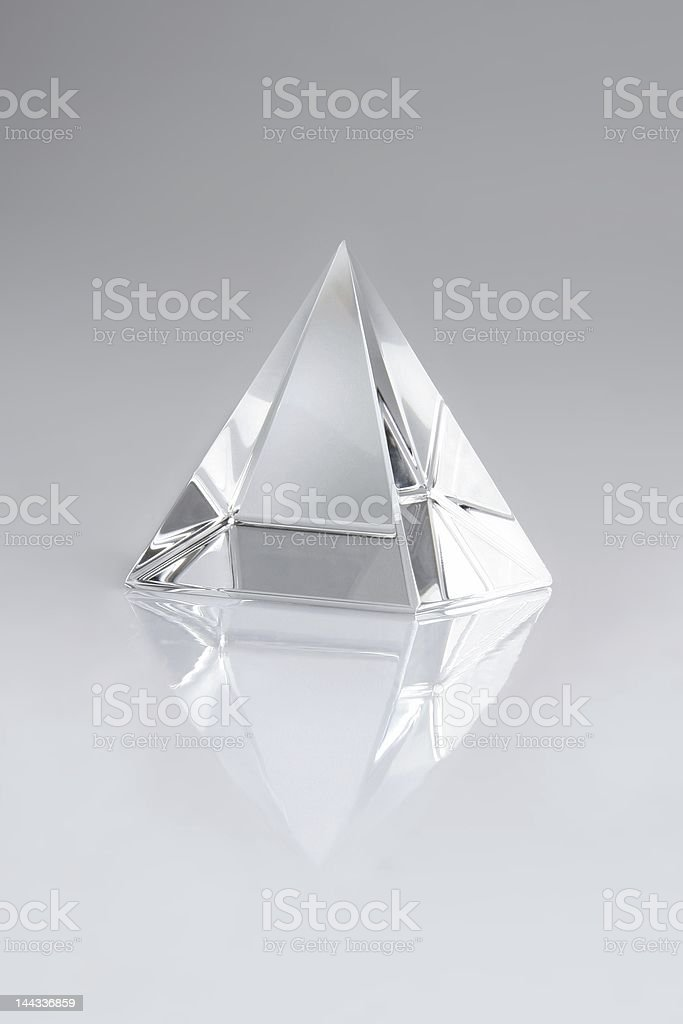 crystal pyramid stock photo