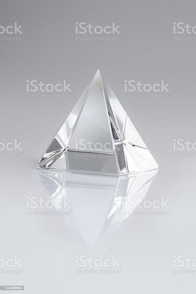 crystal pyramid stock photo