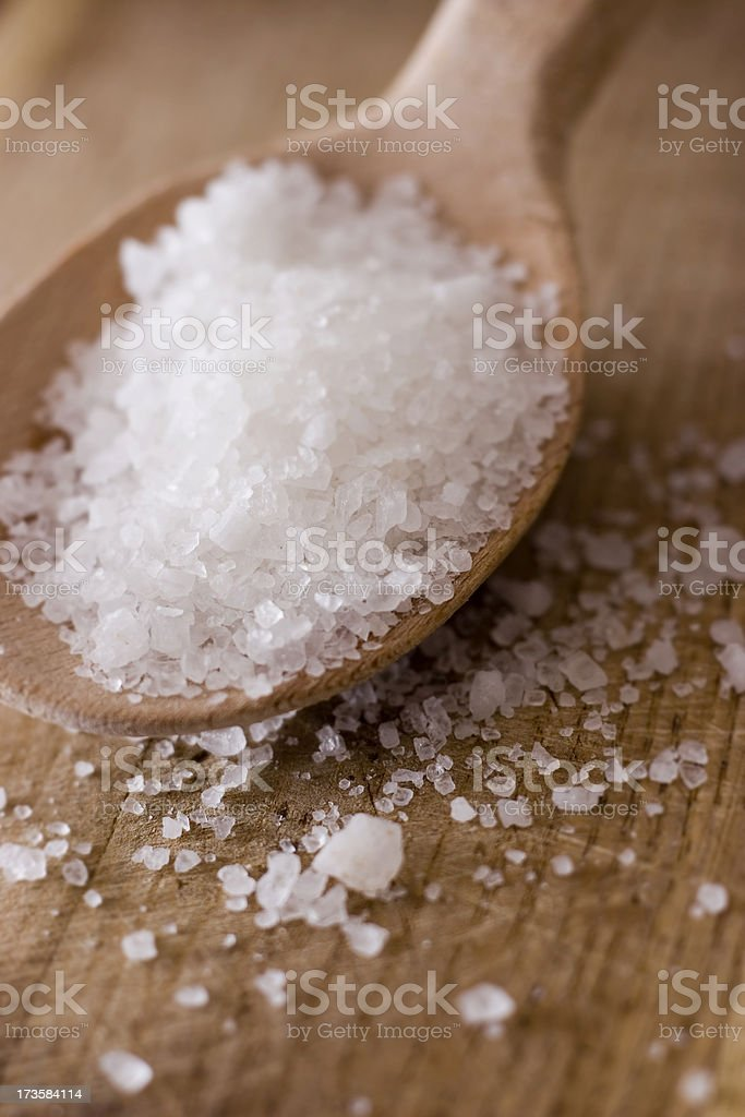 crystal raw salt royalty-free stock photo