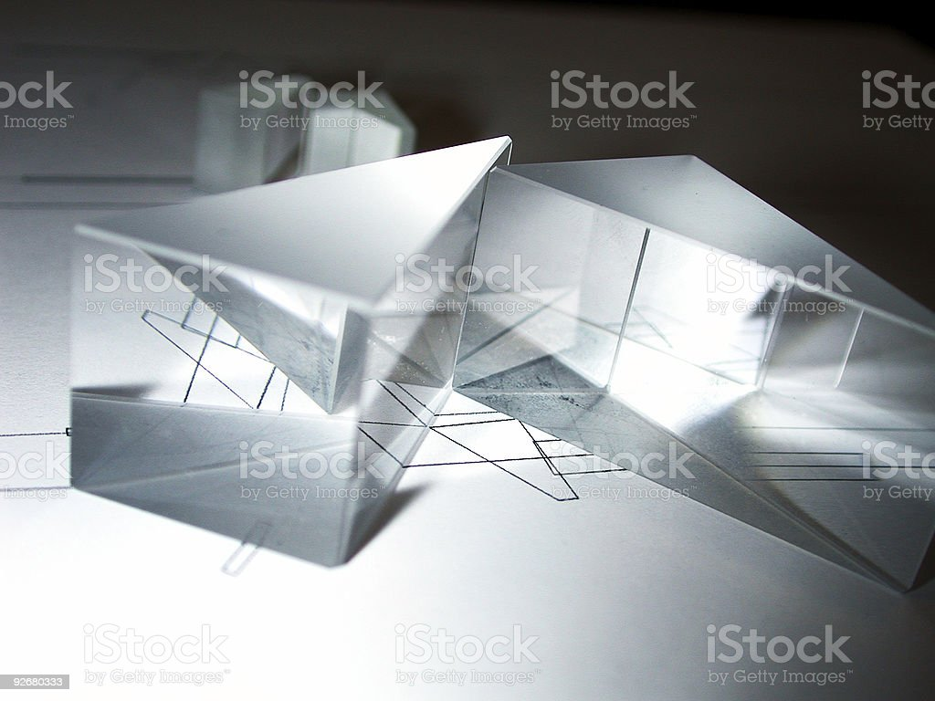 Crystal Reflections stock photo