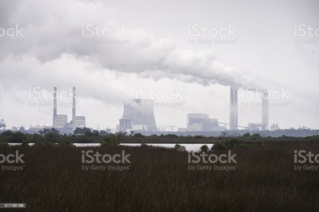 Crystal River 3 Nuclear Power Plant, near Crystal River, Florida. stock photo