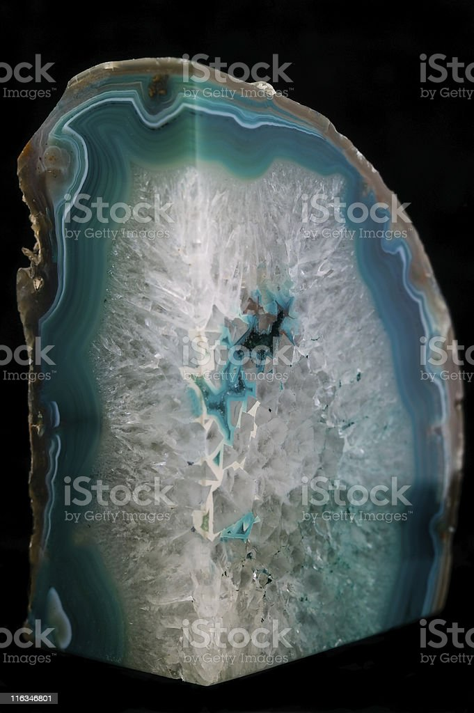 Crystal Rock on Black Background royalty-free stock photo