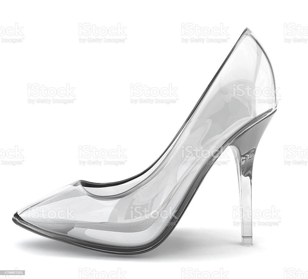 Crystal shoe stock photo