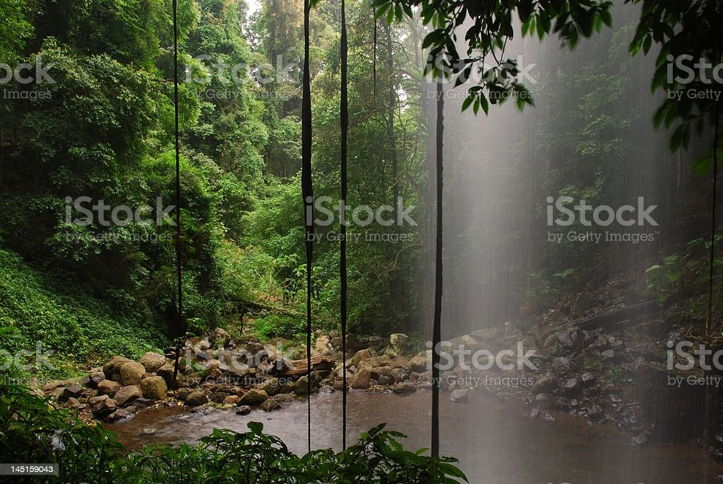 Crystal Shower Falls 2 royalty-free stock photo