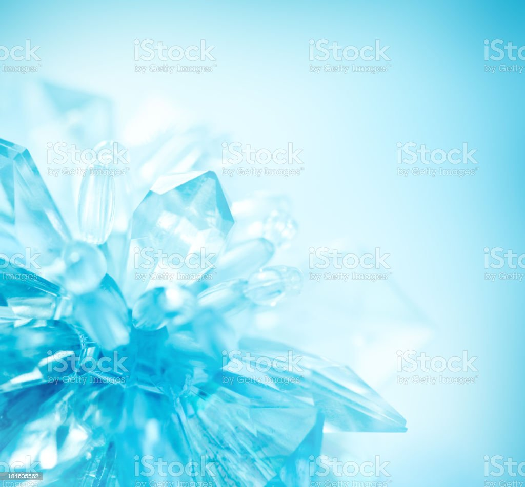 Crystal snowflake stock photo