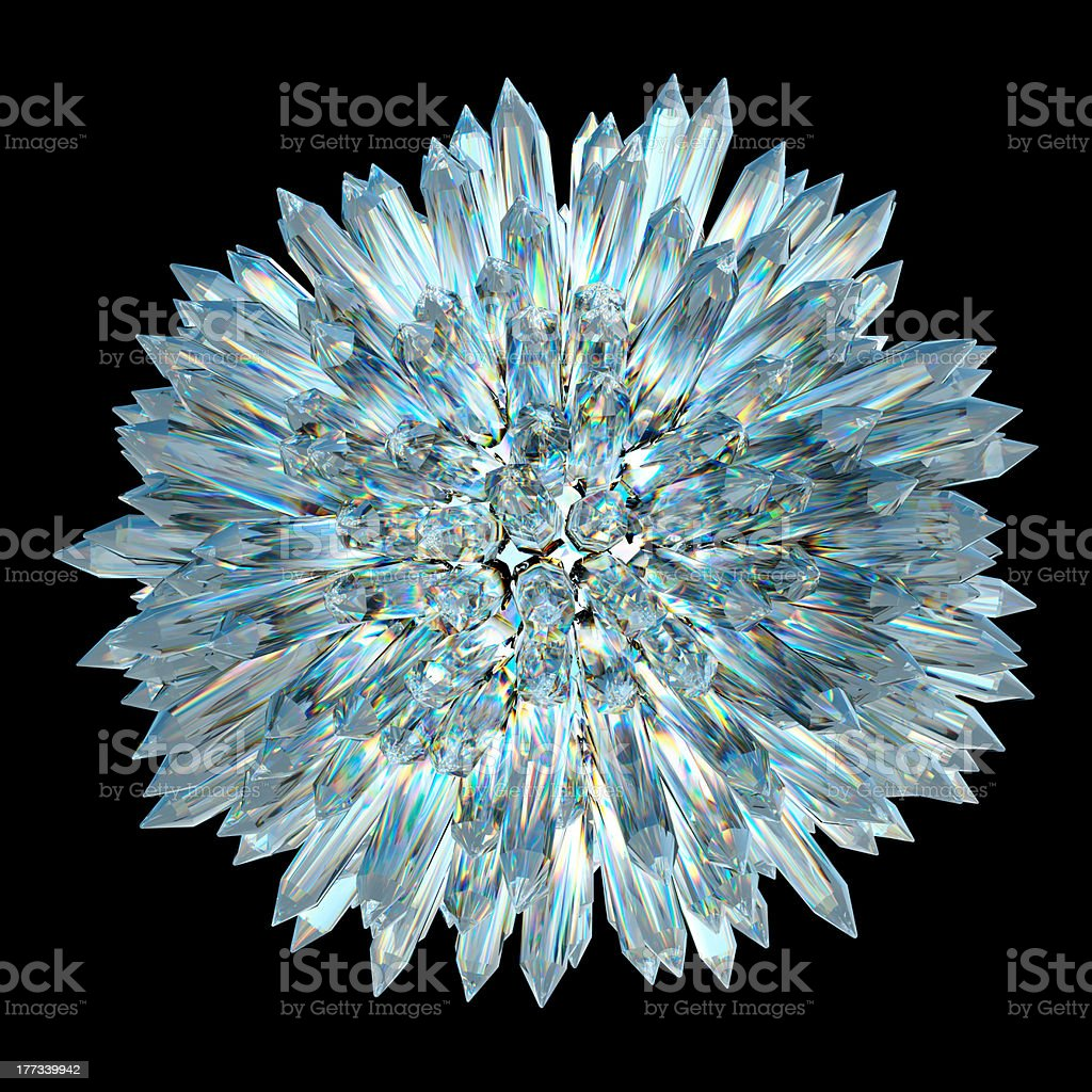 Crystal sphere with acute columns royalty-free stock photo
