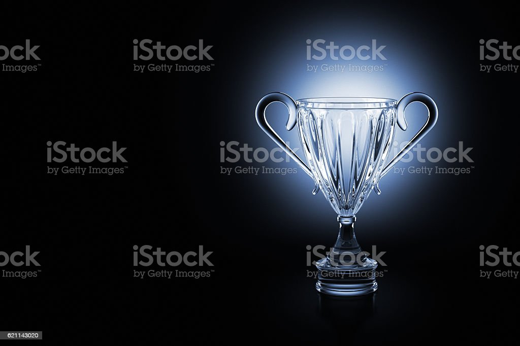 Crystal Trophy stock photo