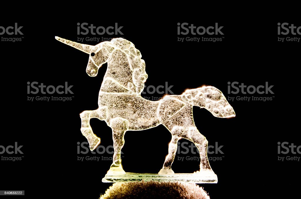 Crystal Unicorn stock photo