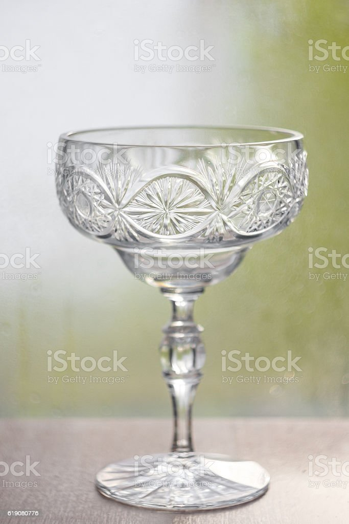 crystal vase stock photo