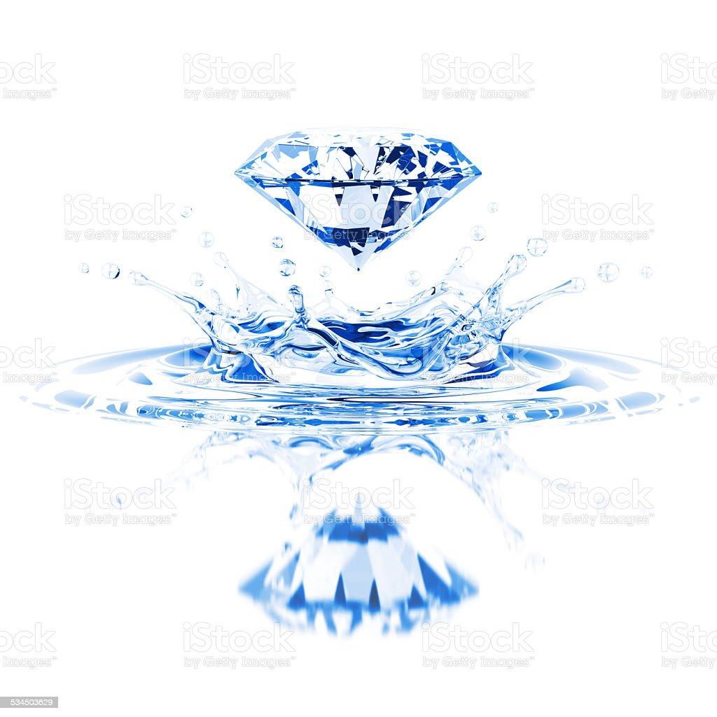 Crystal Water Splash stock photo
