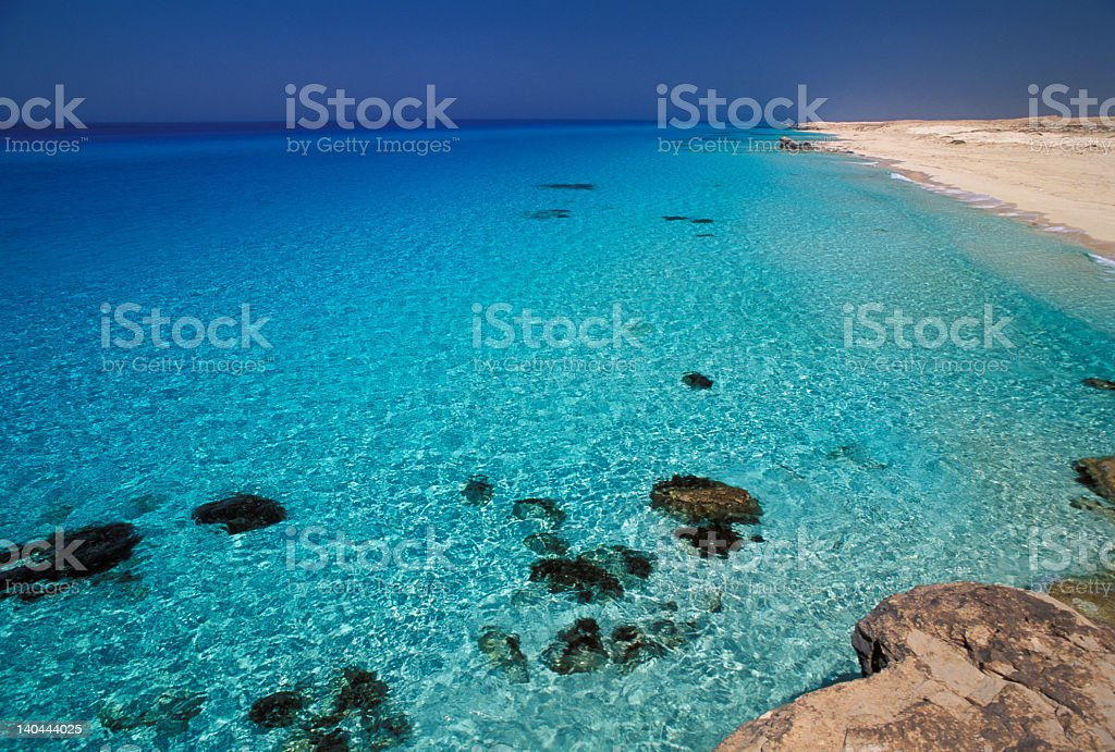 Crystal waters in the Mediterranean Sea royalty-free stock photo