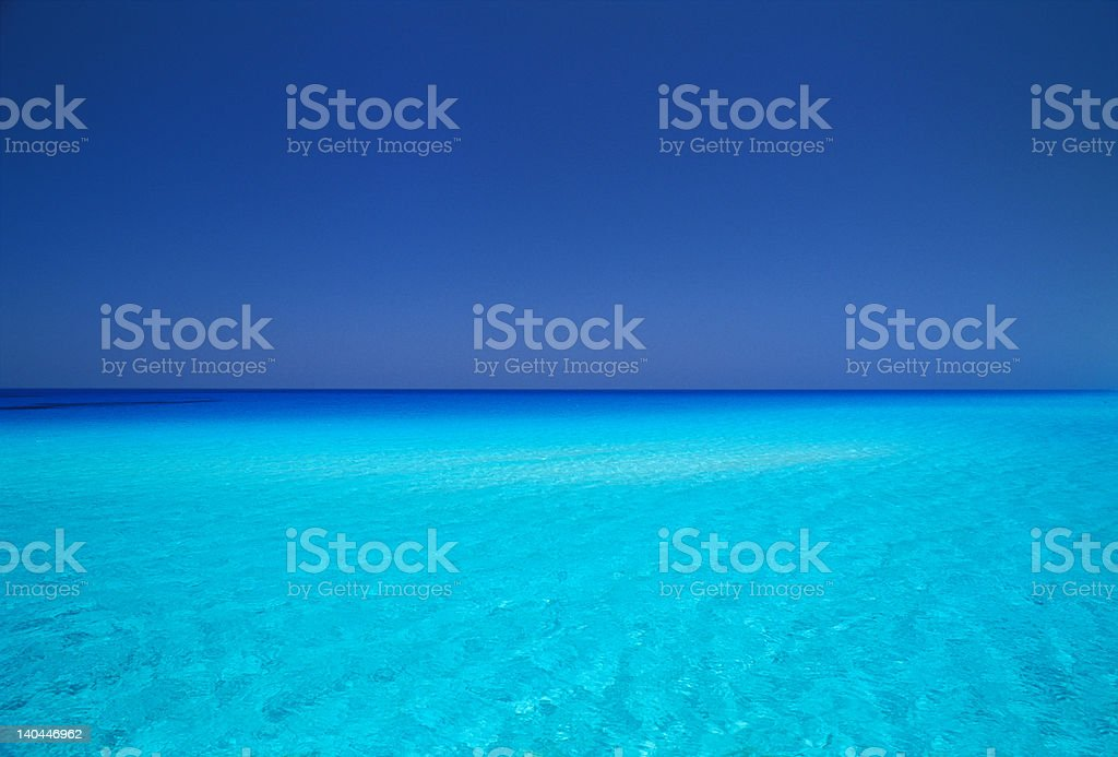 crystal wathers in Mediteranean Egypt royalty-free stock photo