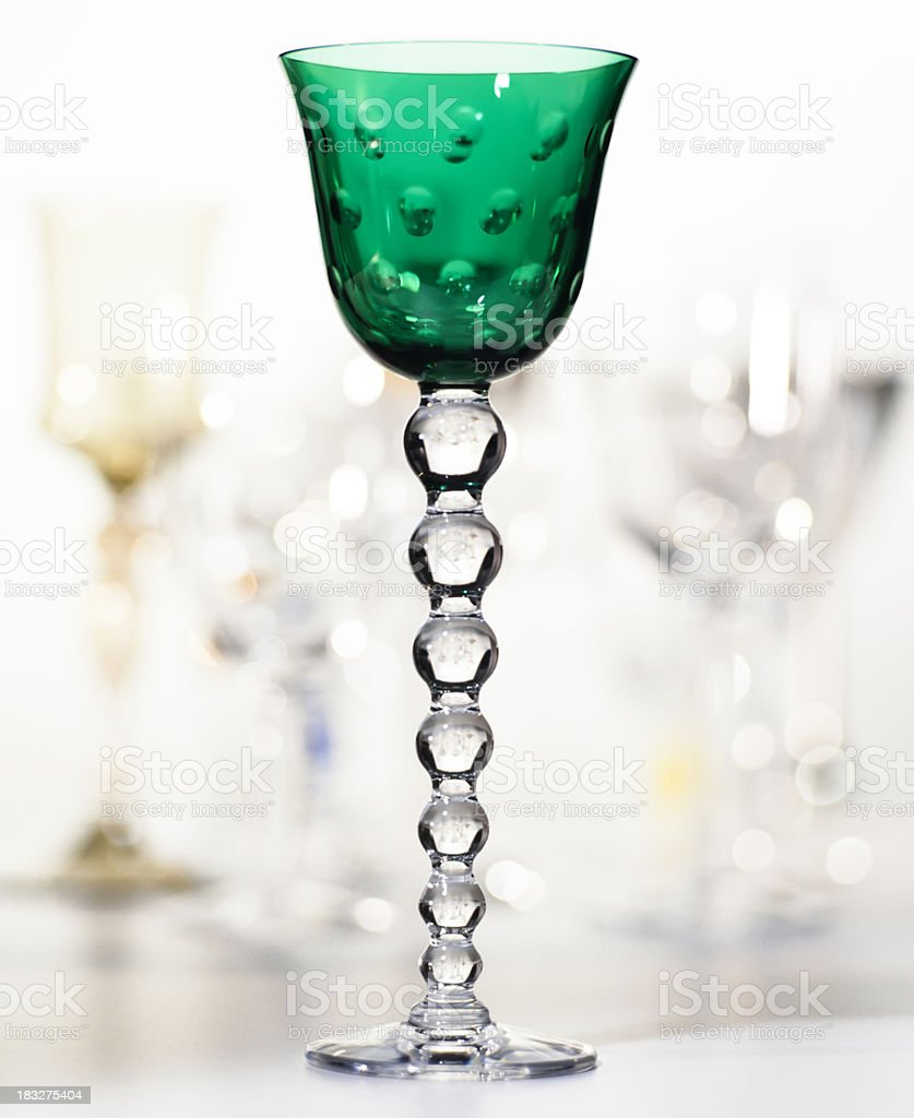 Crystal wine glass royalty-free stock photo