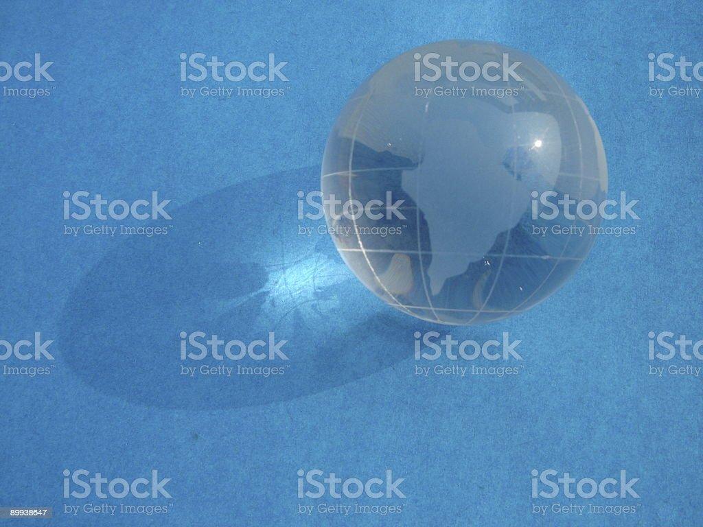 Crystal world globe blue. royalty-free stock photo