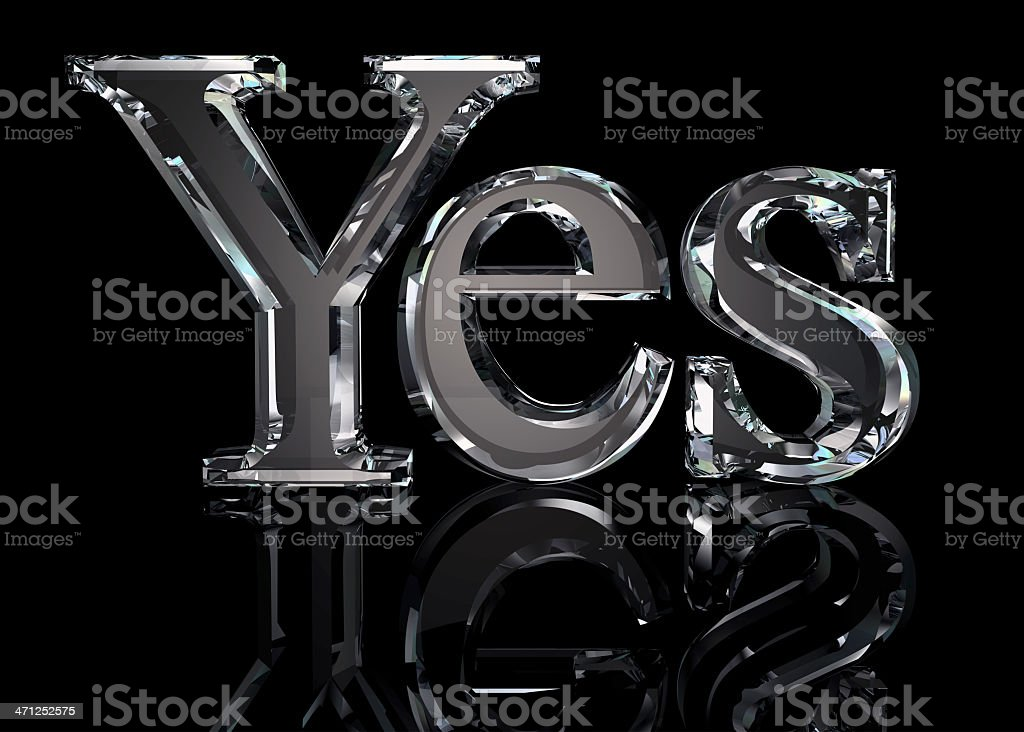 Crystal Yes royalty-free stock photo