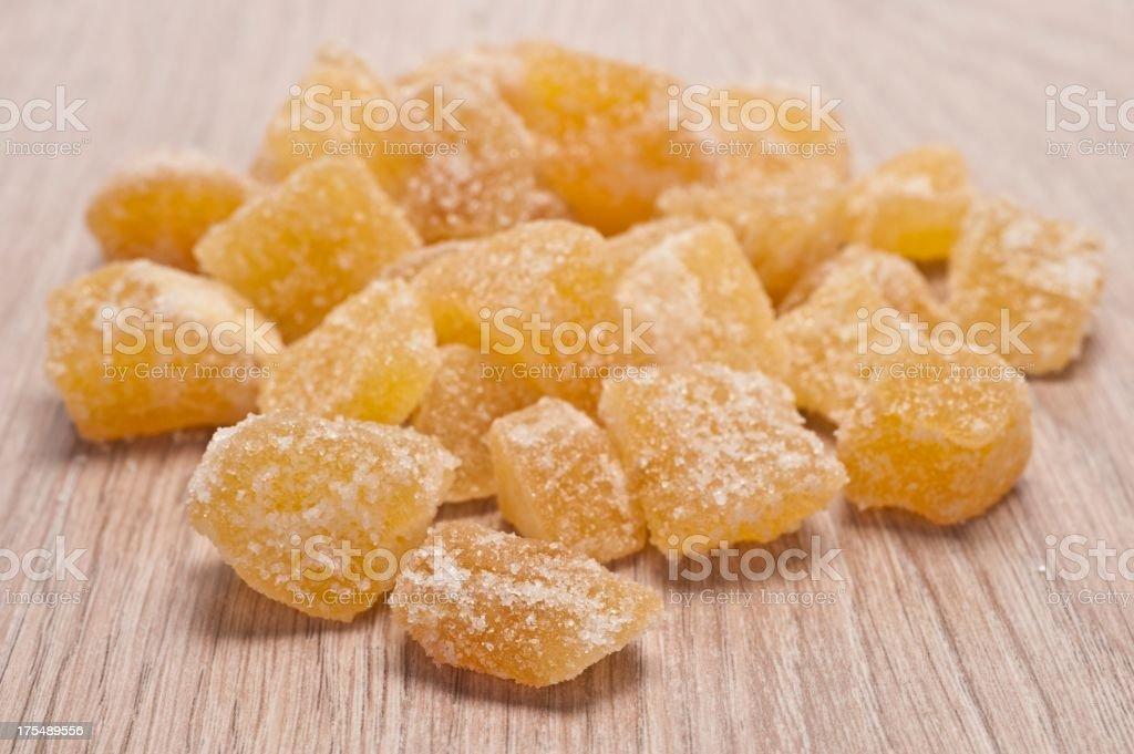 Crystalised Ginger stock photo