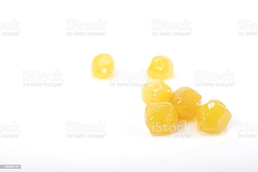 Crystallised stem ginger stock photo