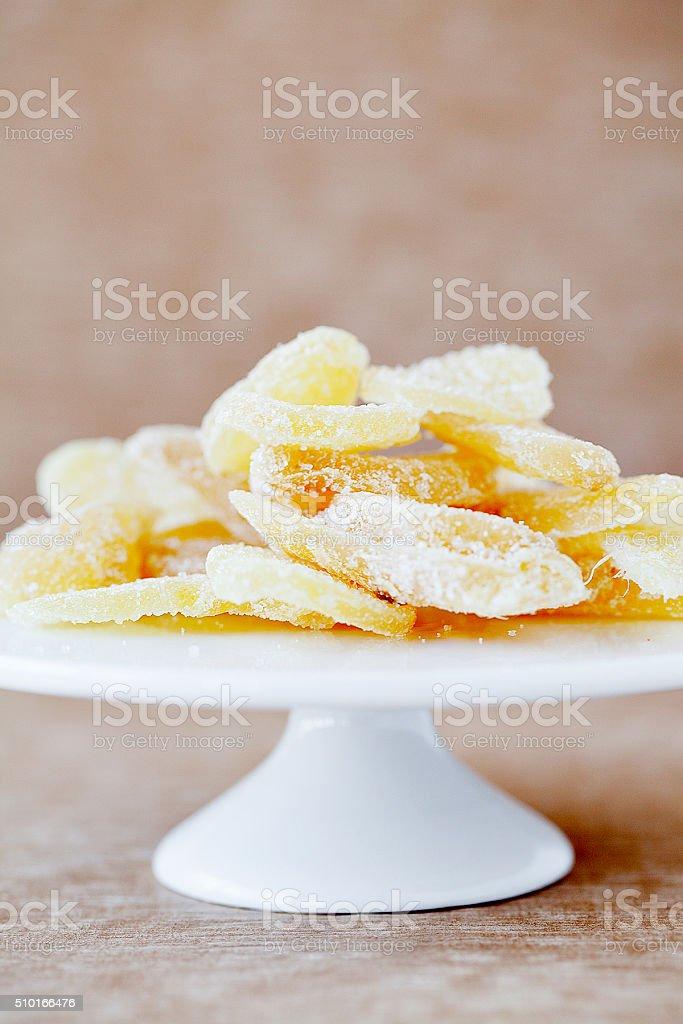 crystallized ginger stock photo