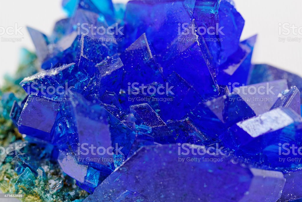 Crystals of blue vitriol - Copper sulfate royalty-free stock photo