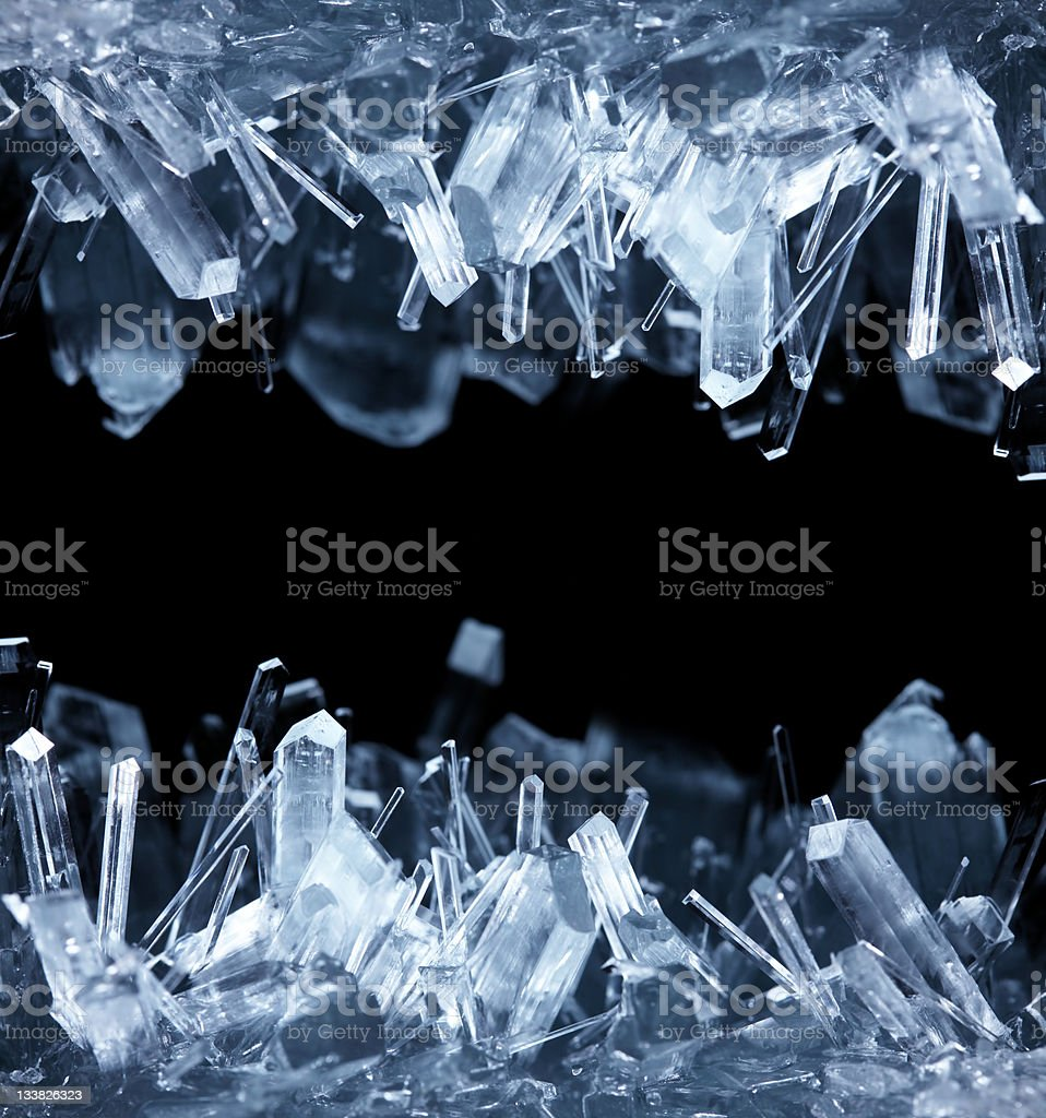 Crystals stock photo