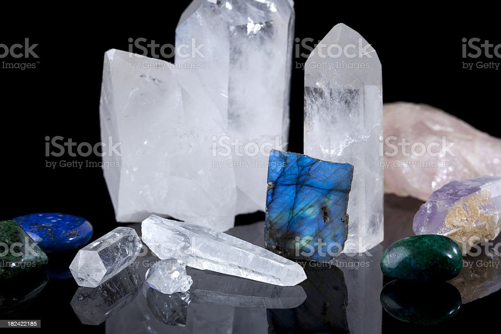 Crystals used in Healing Sessions stock photo