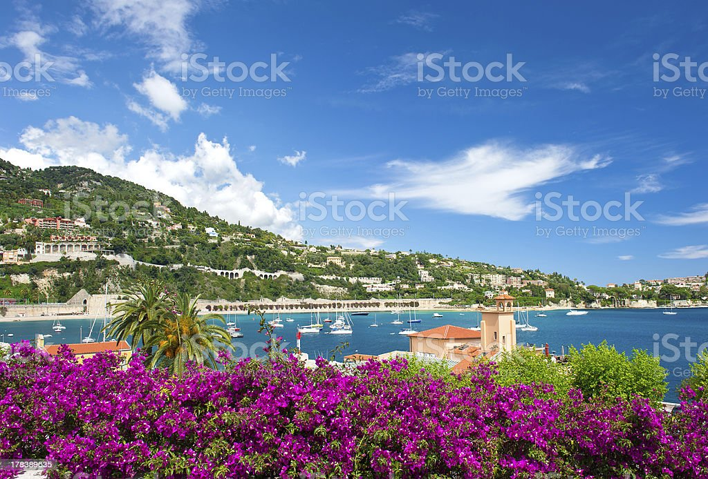 Côte d'Azur, french reviera, Villefranche-sur-Mer stock photo