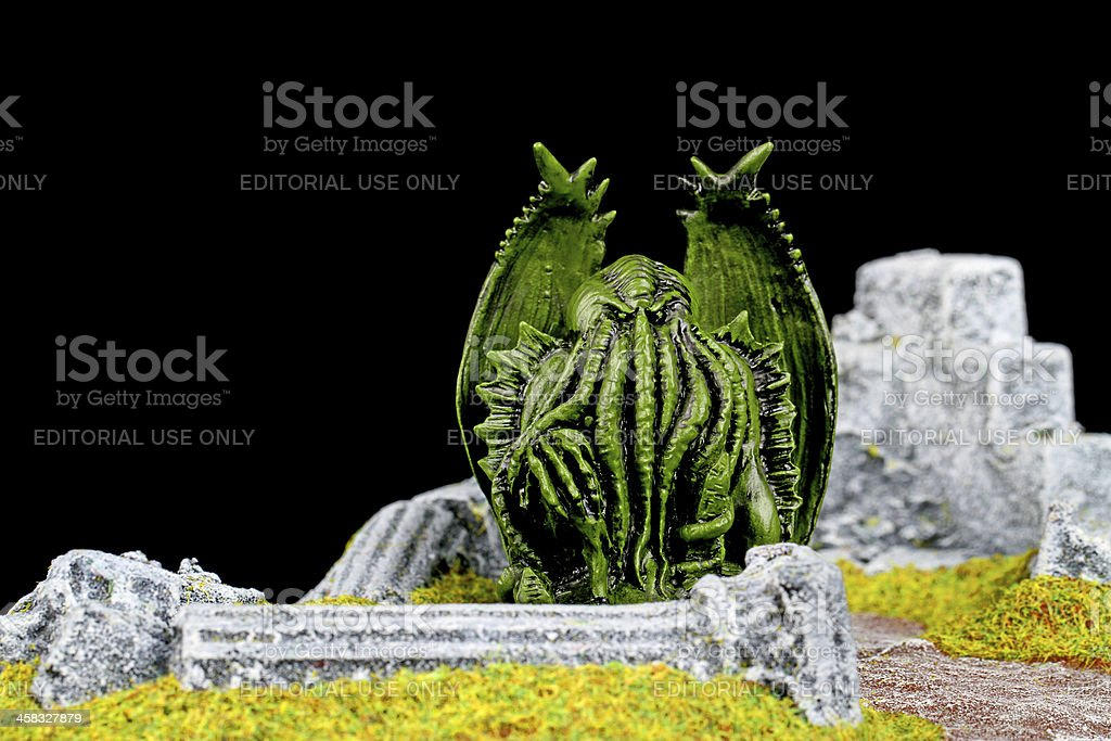 Cthulhu in the Ruins royalty-free stock photo