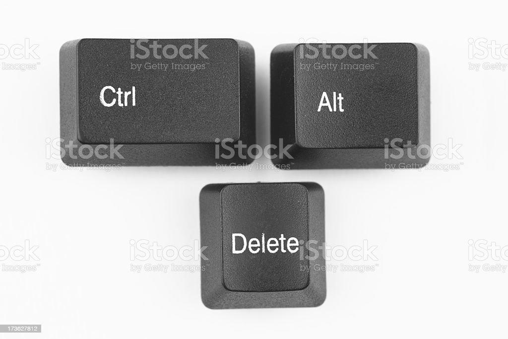 Ctrl Alt Del keys stock photo