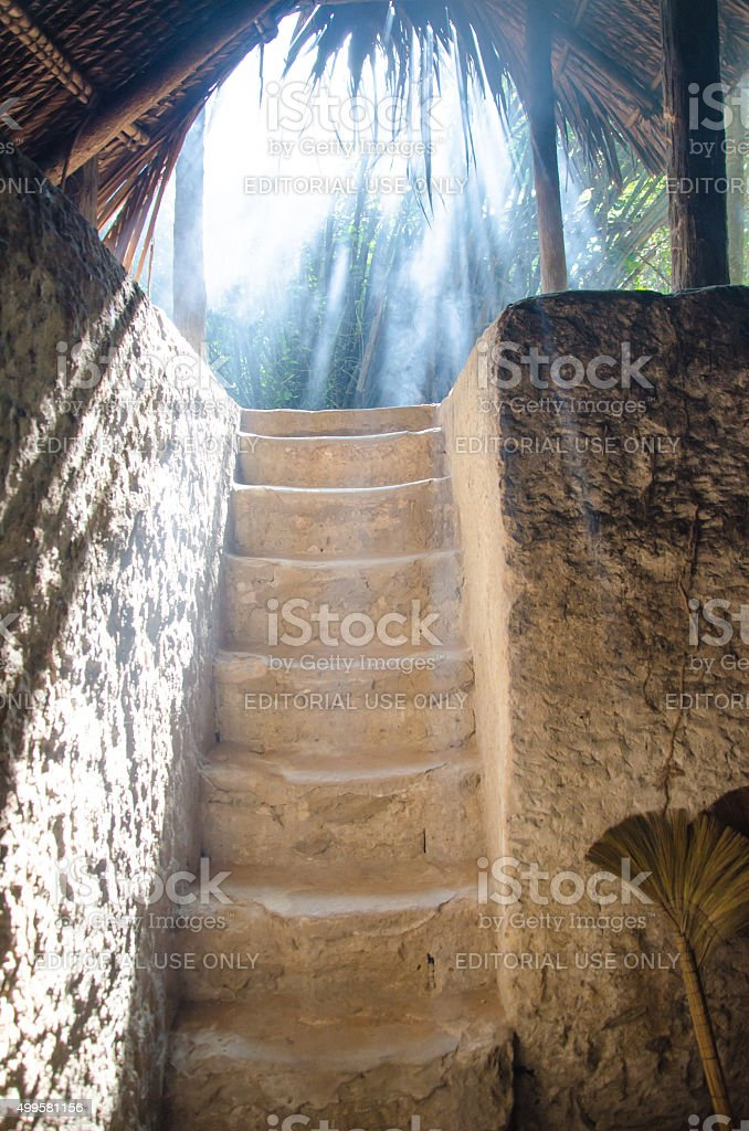 Cu Chi tunnel, historic famous place in Vietnam war stock photo