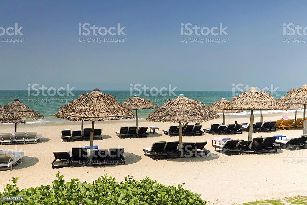 Cua Dai Beach Vietnam stock photo