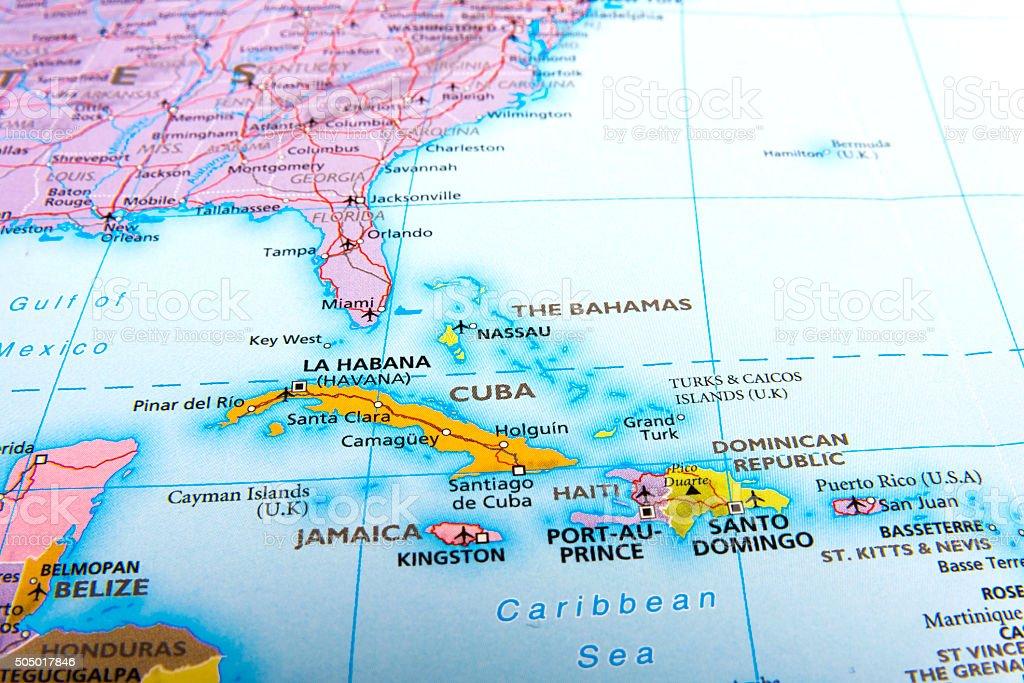 Cuba and Jamaıca. stock photo