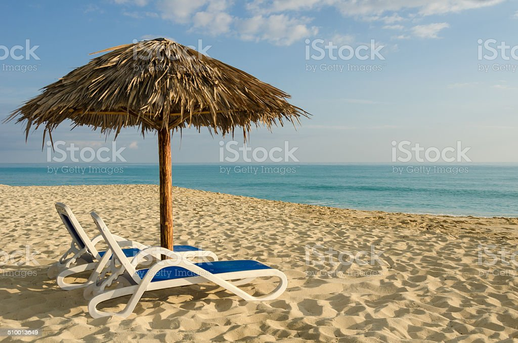 Cuba, Beach Life in Cayo Santa Maria stock photo
