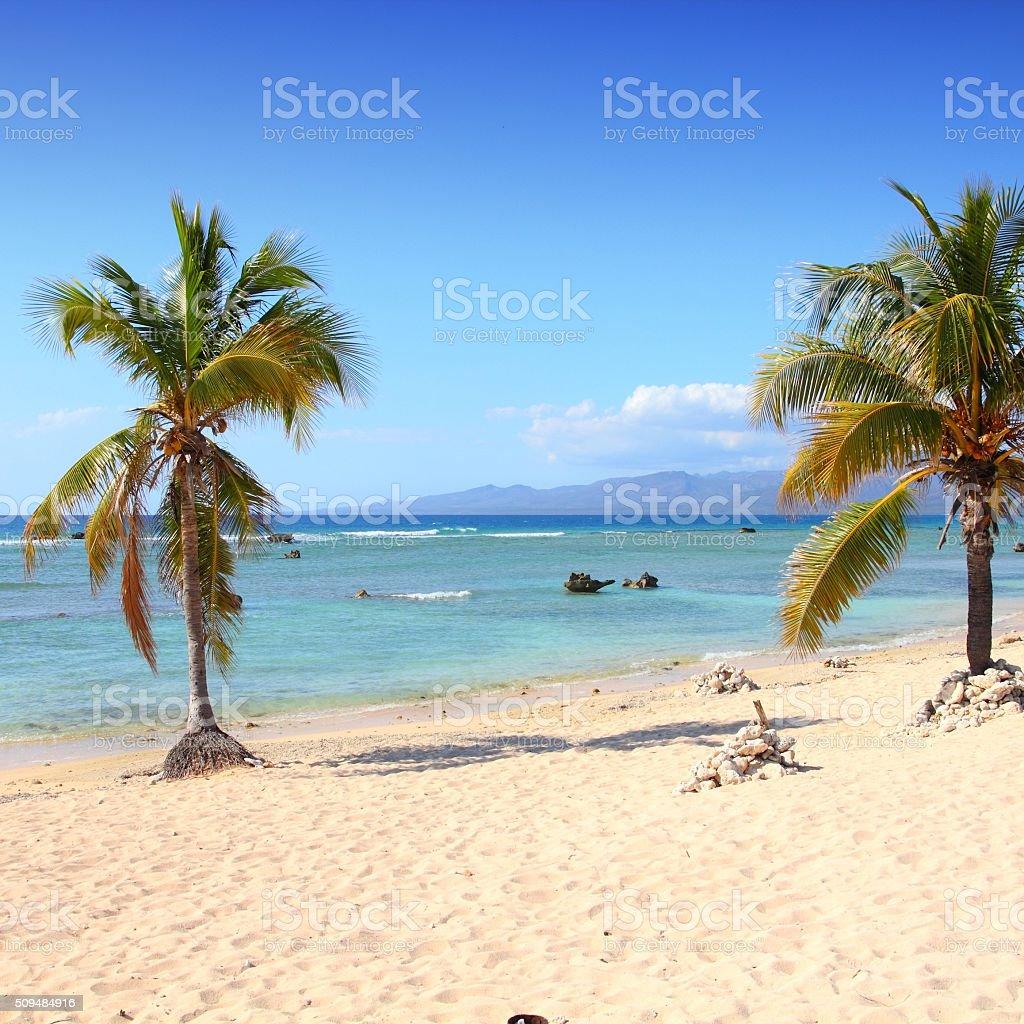 Cuba beach stock photo