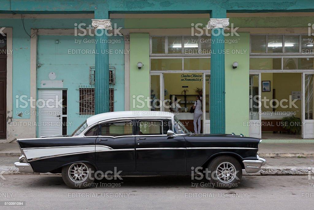 Cuba, Cardenas, Oldtimer stock photo