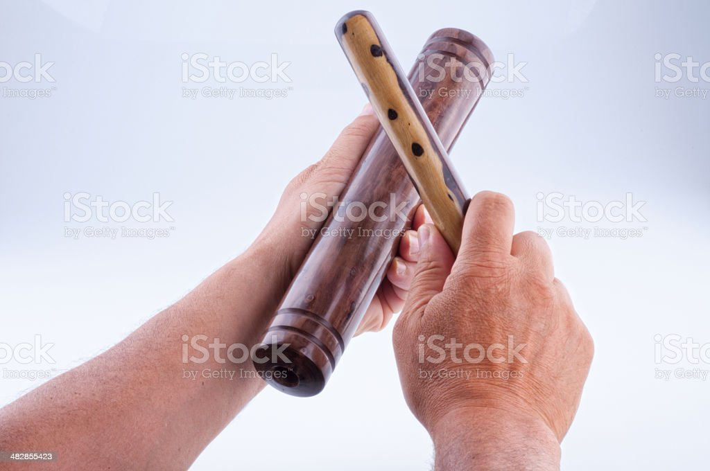 Cuba - Claves-musical instrument stock photo