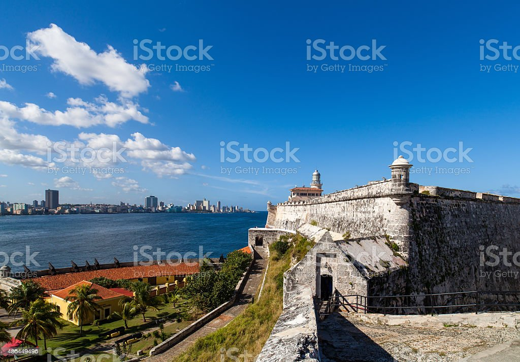 Cuba el Morro the fortress in Havana stock photo