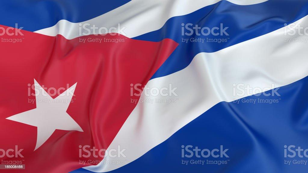 Cuba Flag stock photo