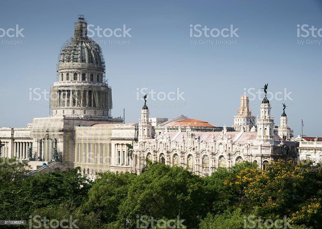Cuba - Havana Vieja - Teatro Martí stock photo