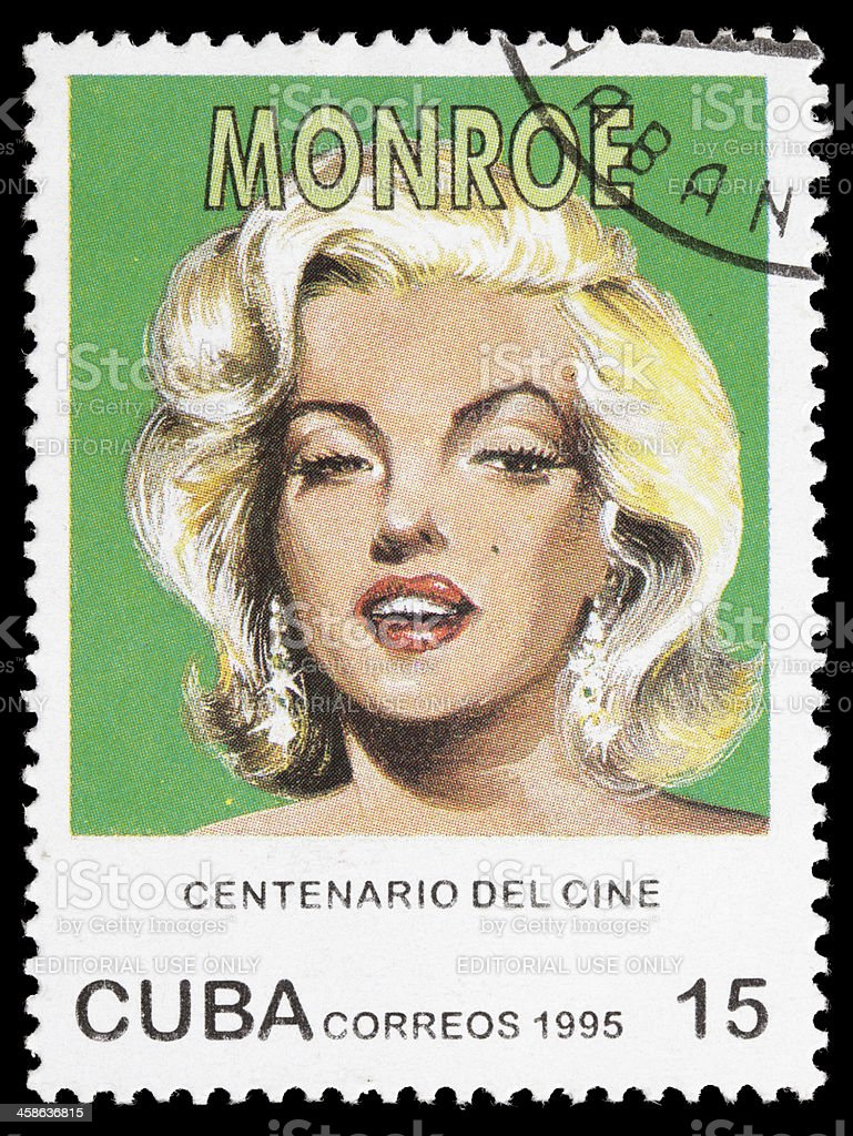 Cuba Marilyn Monroe postage stamp stock photo