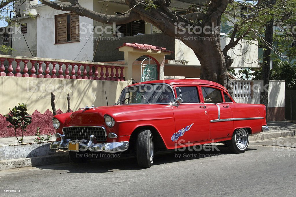 Cuba, Old American Vintage car royalty-free stock photo