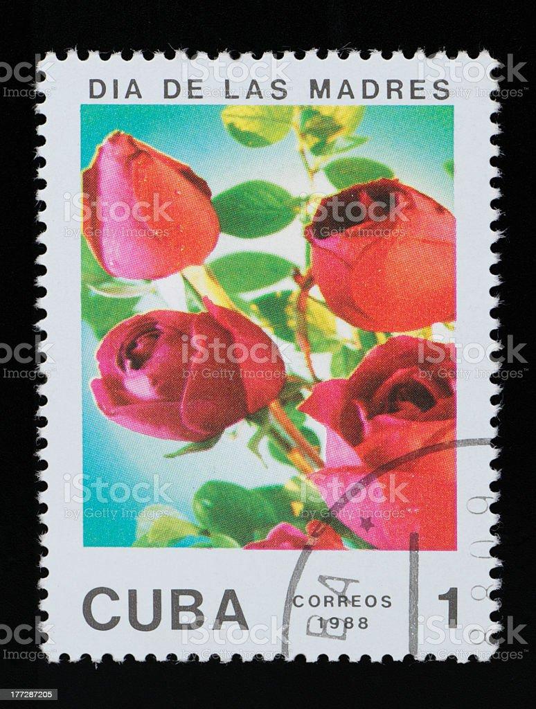 Cuba postage stamp stock photo