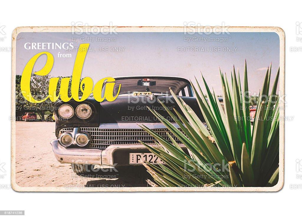 Cuba Postcard stock photo