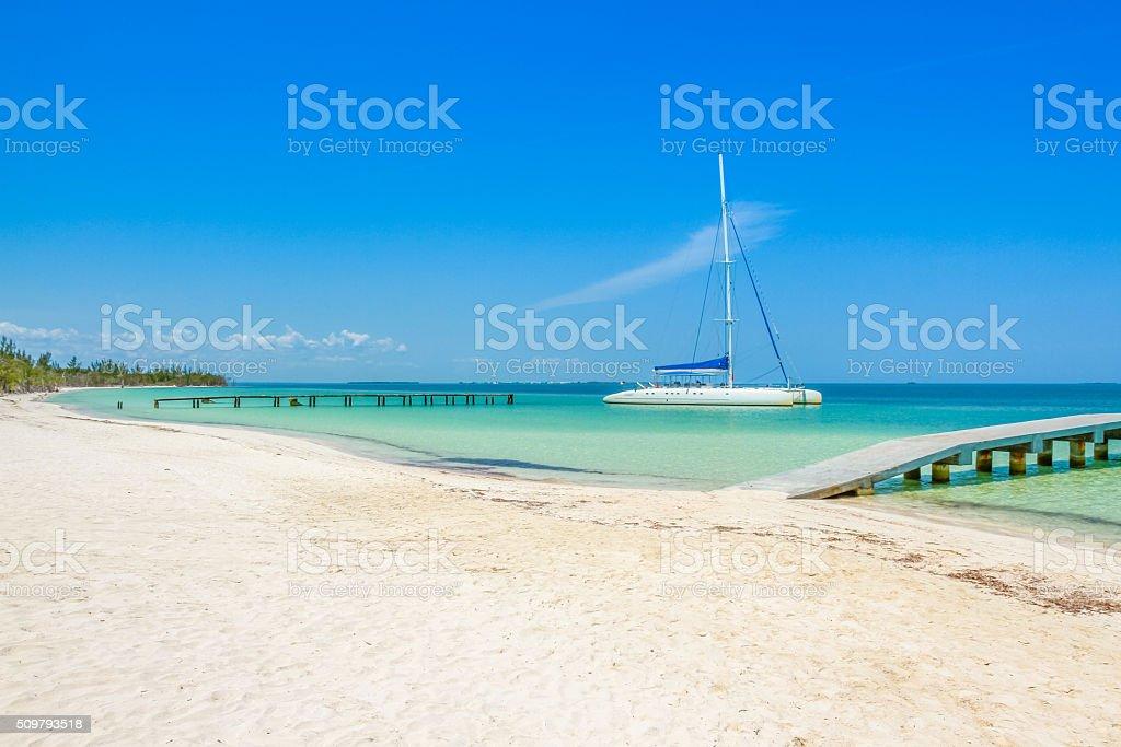 Cuba shoreline stock photo