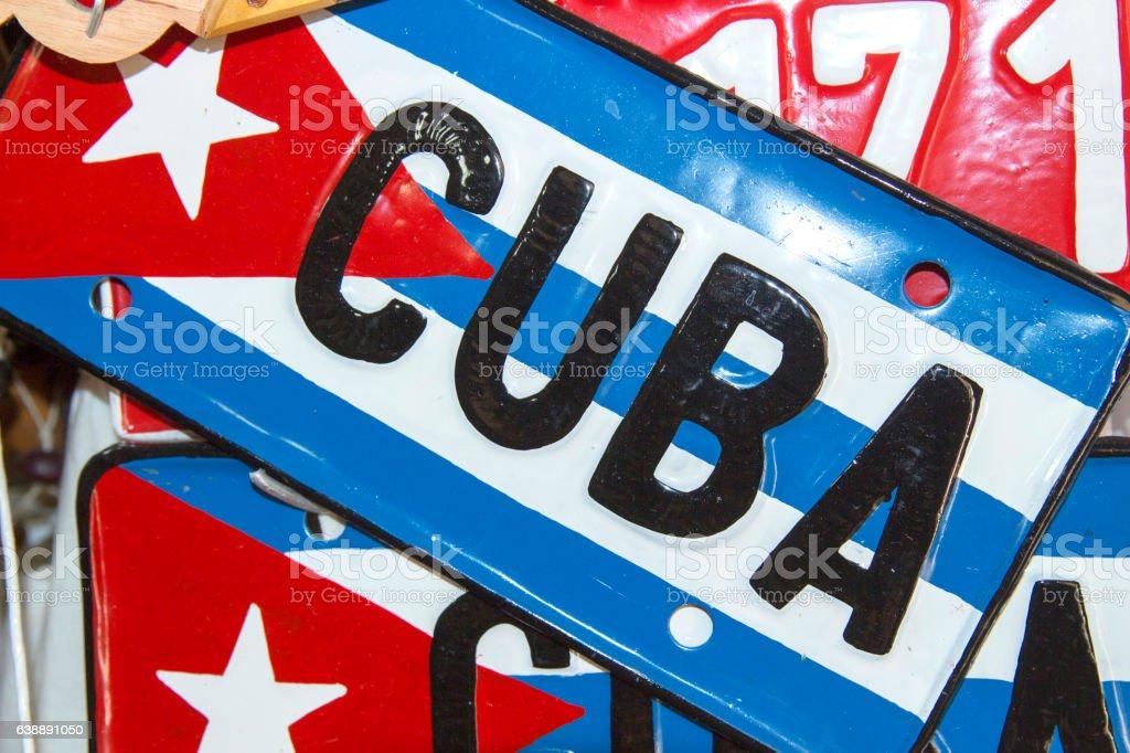 Cuba sign stock photo