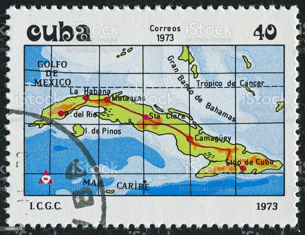 Cuba Stamp royalty-free stock photo