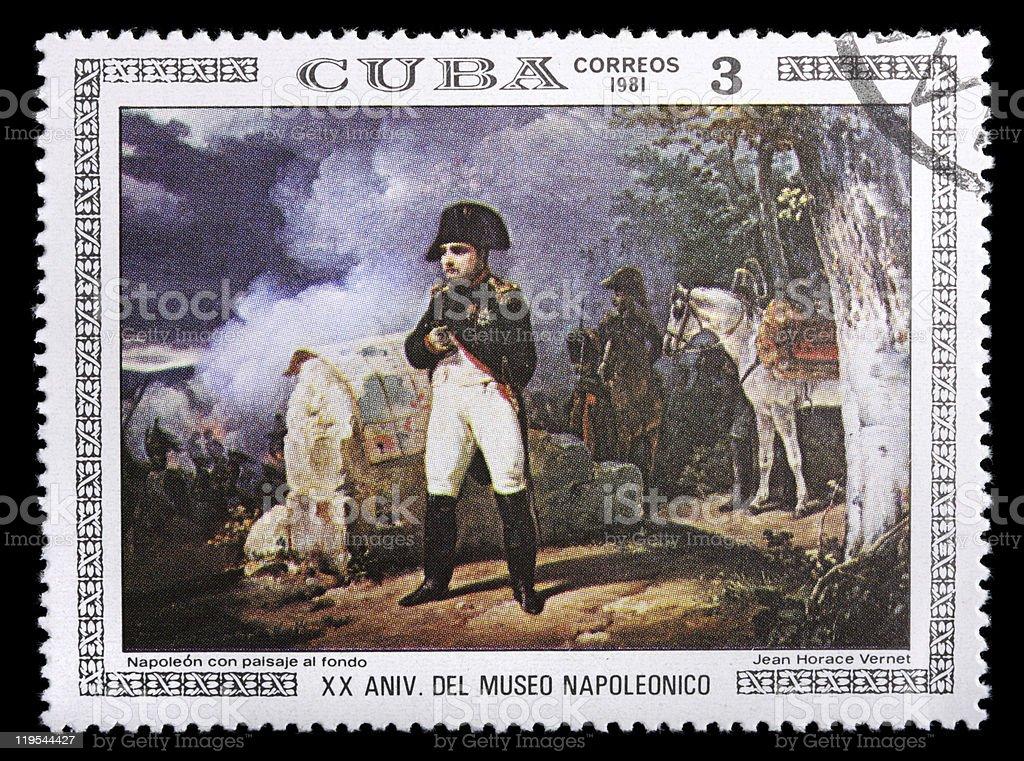 Cuba stamp with Napoleon stock photo