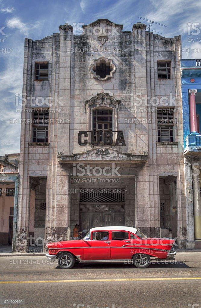 Cuba theatre in Havana stock photo