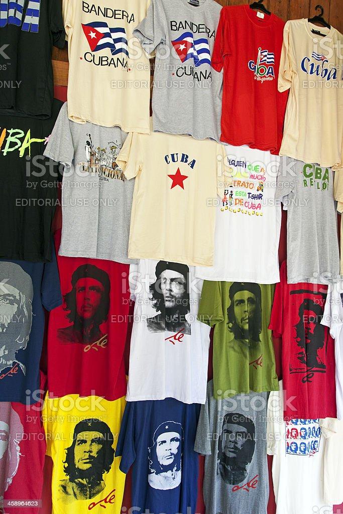 Cuba t-shirts stock photo