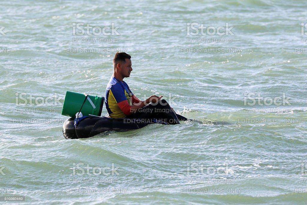 Cuba, Varadero, Fisherman stock photo