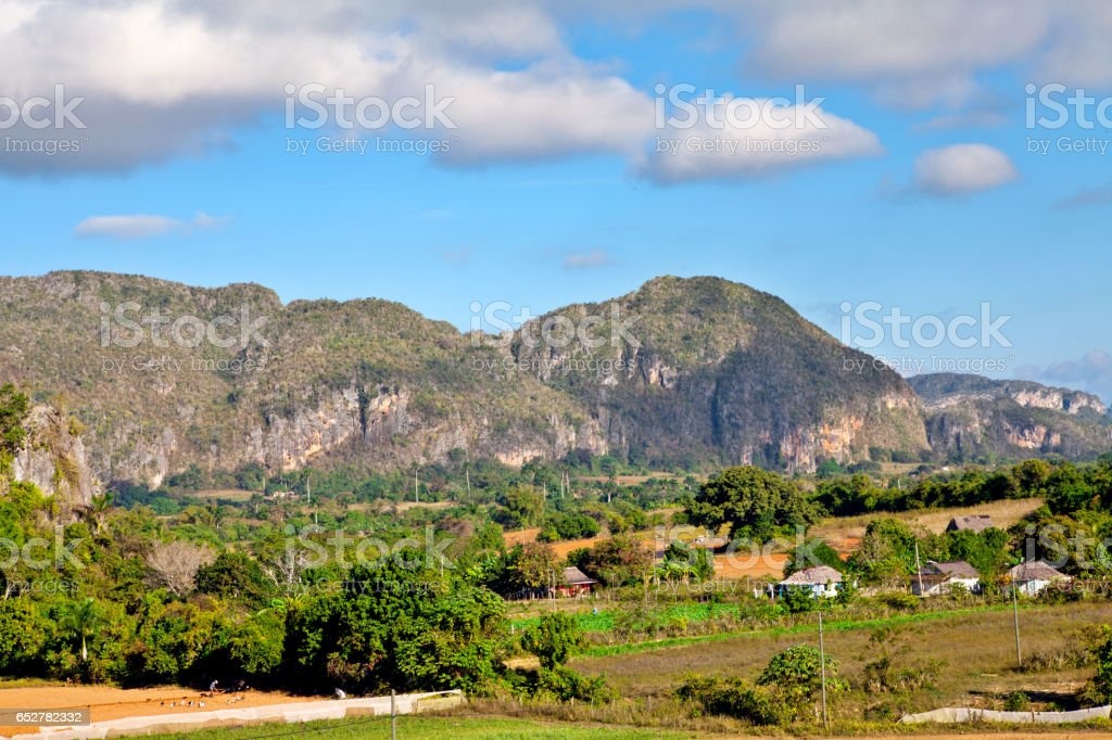 Cuba: View of Valle de Vinales (UNESCO World Heritage site) stock photo
